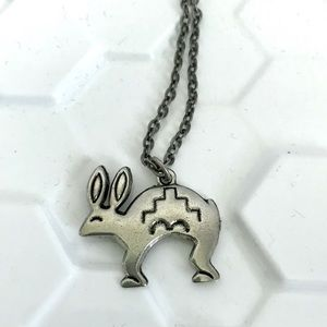 Vintage southwestern rabbit charm necklace